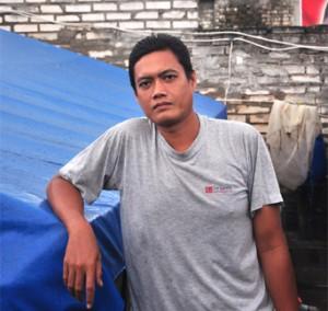 Rizal, salah satu petani pembibitan udang Vaname asal Paciran.