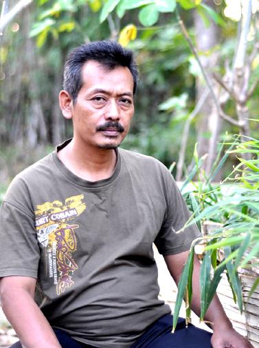Hariono, seorang petani jahe merah asal Desa Japan, Ponorogo.